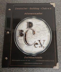 Ahnentafel Buch Deutscher Bulldog Club